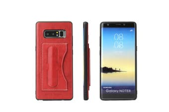 For Samsung Galaxy Note 8 Case,Fierre Shann Luxury Durable Protective Cover,Red