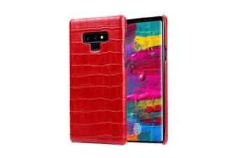 For Samsung Galaxy Note 9 Case,Crocodile Genuine Leather Mobile Phone Cover,Red