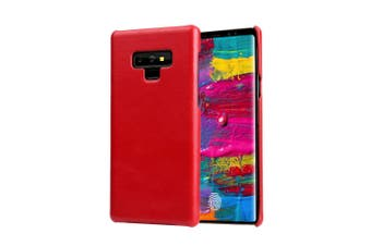 For Samsung Galaxy Note 9 Case,Genuine Leather Back Thin Mobile Phone Cover,Red