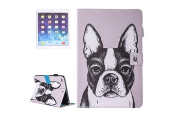 For iPad 2018,2017 9.7in Wallet Case,French Bulldog Durable Leather Cover
