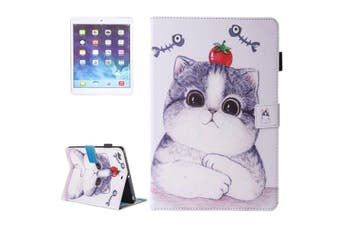 For iPad 2018,2017 9.7in Wallet Case,Tomato Cat Stylish Protective Leather Cover