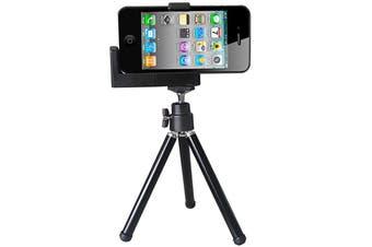 For iPhone,Retro Hipstamatic High-Quality Durable Mini Camera Tripod iPod,Black