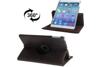 For iPad Air Case,Brown Rotatable Leather Durable High-Quality Shielding Cover