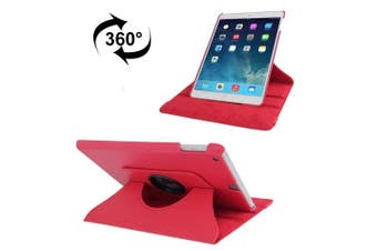 For iPad 2018,2017 9.7in Case,Rotatable Lychee Leather Shielding Cover,Red