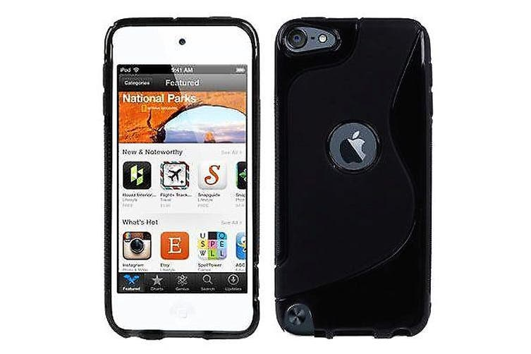 For iPod Touch 5,6 Case,S-Line High-Quality Durable Shielding Cover,Black
