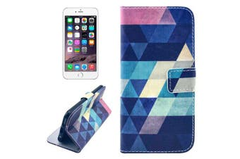 For iPhone 8 PLUS,7 PLUS Wallet Case,Modern Rhombus Leather Shielding Cover