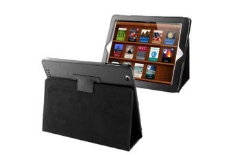 For iPad 2/3/4 Case Modern Lychee Leather High-Quality Shielding Cover Black
