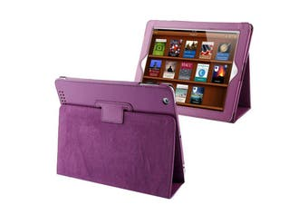 For iPad 2/3/4 Case,Modern Lychee Leather High-Quality Shielding Cover,Purple