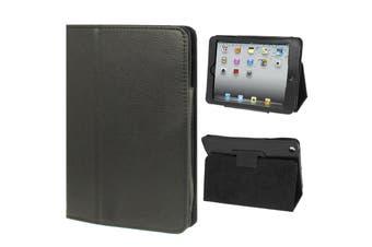 For iPad Mini 1,2,3 Case, Lychee Texture 2-fold Folio Leather Cover,Black