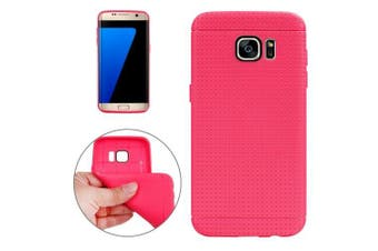 For Samsung Galaxy S7 EDGE Case Honeycomb Durable Grippy Shielding Cover Magenta