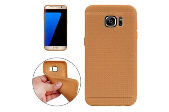 For Samsung Galaxy S7 EDGE Case Honeycomb Durable Grippy Shielding Cover Brown