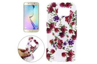For Samsung Galaxy S7 EDGE Case  Flowers Durable Shielding Cover Red