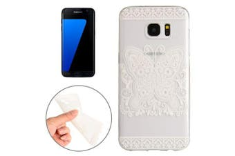 For Samsung Galaxy S7 EDGE Case  Flowery Butterfly Durable Protective Cover