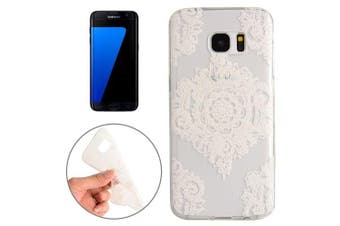 For Samsung Galaxy S7 EDGE Case Stylish Abstract Flowers Grippy Protective Cover