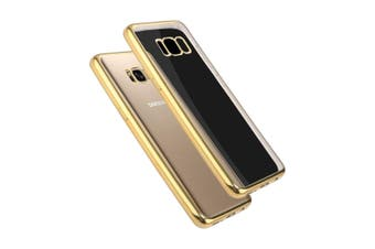 For Samsung Galaxy S8 Case,Transparent Electroplating Protective Cover,Gold