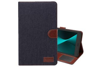 For Samsung Galaxy Tab A 8.0 SM-T380,SM-T385 Case,Denim Texture Leather Cover