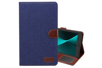 For Samsung Galaxy Tab A 8.0 SM-T380,T385 Case,Denim Texture Leather Cover