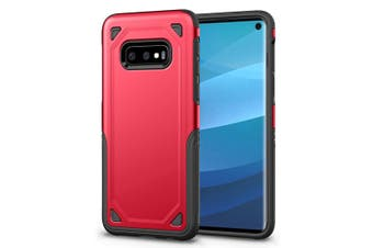 For Samsung Galaxy S10e Case, Red Shockproof Armour Hard Back Mobile Phone Cover