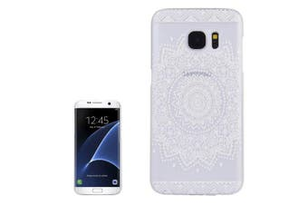 For Samsung Galaxy S7 EDGE Case Elegant Mandala Transparent Durable Cover White