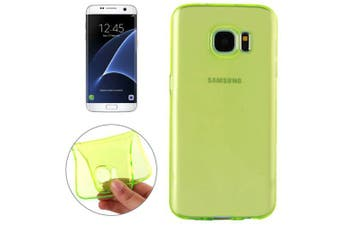 For Samsung Galaxy S7 EDGE Case Modern Transparent TPU Shielding Cover Green