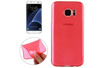For Samsung Galaxy S7 EDGE Case Modern Transparent TPU Shielding Cover Red