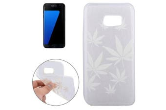 For Samsung Galaxy S7 EDGE Case Modern Maple Leaves Shielding Cover White