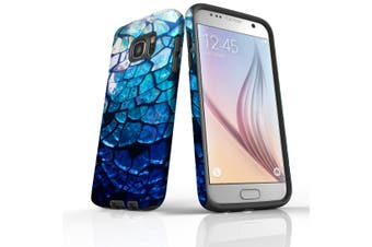 For Samsung Galaxy S7 Case Armour Cover, Blue Mirror