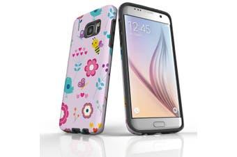 For Samsung Galaxy S7 Edge Case  Armour Tough Cover  Cute Flower Garden