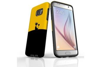 For Samsung Galaxy S7 Edge Case  Armour Tough Cover  Black Cat