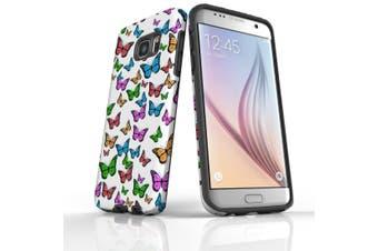 For Samsung Galaxy S7 Edge Case  Armour Tough Cover  Colourful Butterflies