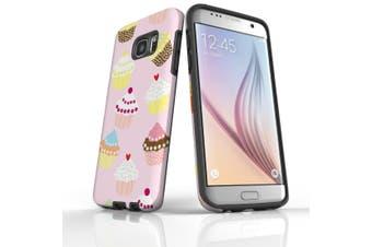 For Samsung Galaxy S7 Edge Case  Armour Tough Cover  Cupcakes