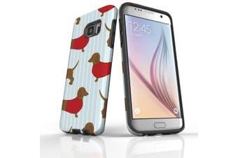 For Samsung Galaxy S7 Edge Case  Armour Tough Cover  Dachshunds