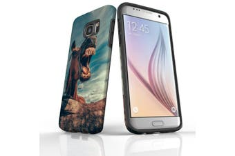 For Samsung Galaxy S7 Edge Case  Armour Tough Cover  Horsing Around