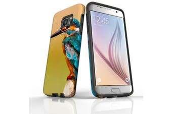 For Samsung Galaxy S7 Edge Case  Armour Tough Cover  Kingfisher