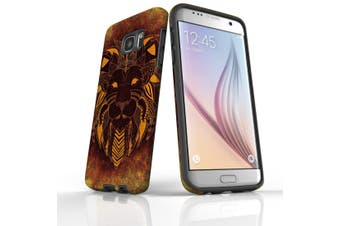 For Samsung Galaxy S7 Edge Case  Armour Tough Cover  Tribal Lion