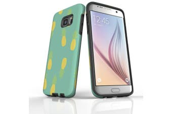 For Samsung Galaxy S7 Edge Case  Armour Tough Cover  Pineapple Pastel