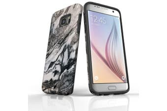 For Samsung Galaxy S7 Edge Case  Armour Tough Cover  Marbled