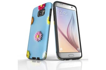For Samsung Galaxy S7 Edge Case  Armour Tough Cover  Flowerful