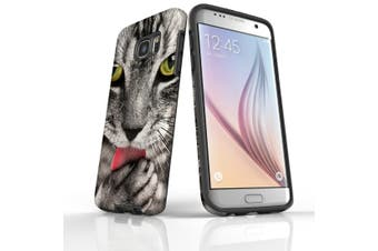 For Samsung Galaxy S7 Edge Case  Armour Tough Cover  Tabby Cat