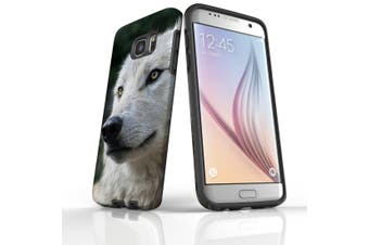 For Samsung Galaxy S7 Edge Case  Armour Tough Cover  Wolf