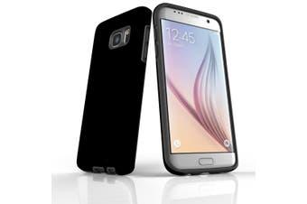 For Samsung Galaxy S7 Edge Case  Armour Tough Protective Cover  Black