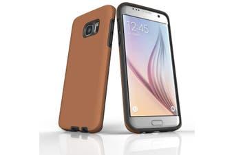 For Samsung Galaxy S7 Edge Case  Armour Tough Protective Cover  Brown