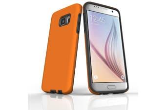 For Samsung Galaxy S7 Edge Case  Armour Tough Protective Cover  Orange