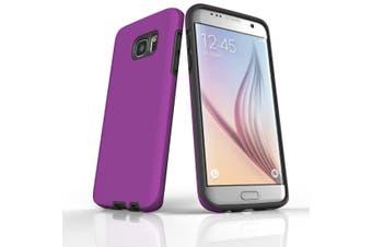 For Samsung Galaxy S7 Edge Case  Armour Tough Protective Cover  Purple