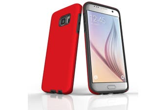 For Samsung Galaxy S7 Edge Case  Armour Tough Protective Cover  Red