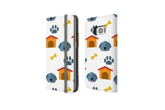 For Samsung Galaxy S8 Case Wallet Protective Cover Dog