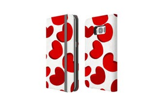 For Samsung Galaxy S8 Case Wallet Protective Cover Heart
