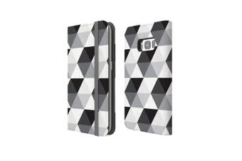 For Samsung Galaxy S8 Case Wallet Protective Cover Hexagonal