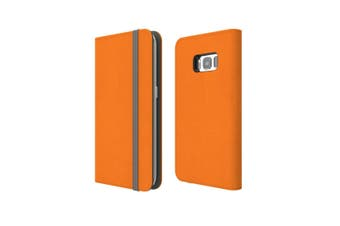 For Samsung Galaxy S8 Case Wallet Protective Cover Orange