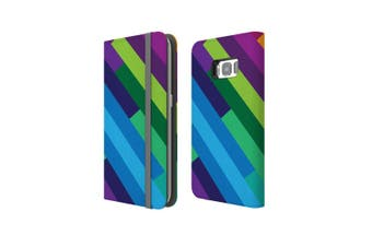 For Samsung Galaxy S8 Case Wallet Protective Cover Rainbow
